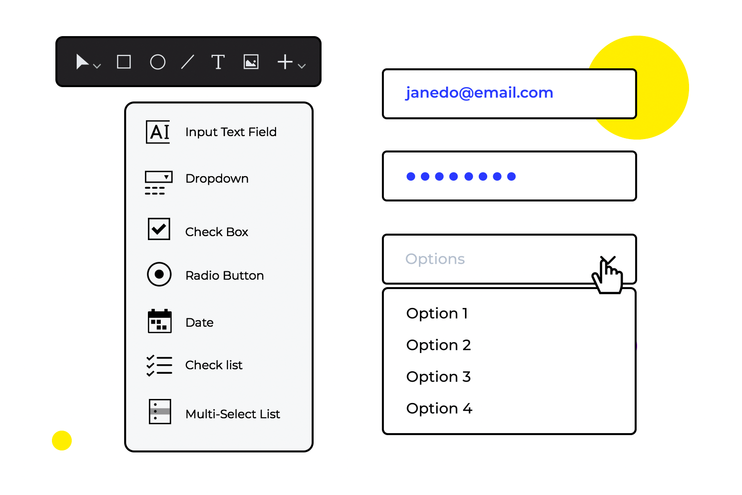 wireframing tool to design website apps