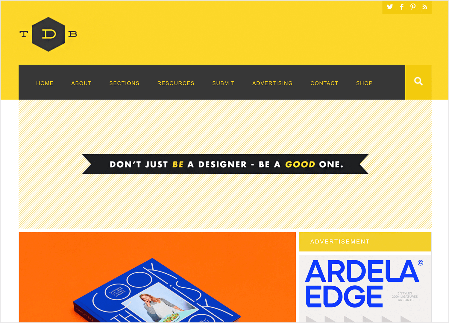 the DSGN blog for web design ideas and inspiration