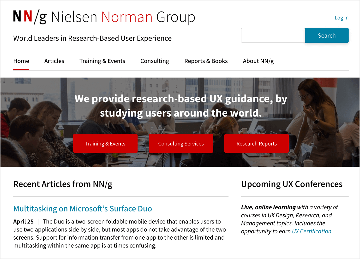 Best UX design blogs - Nielsen Norman Group