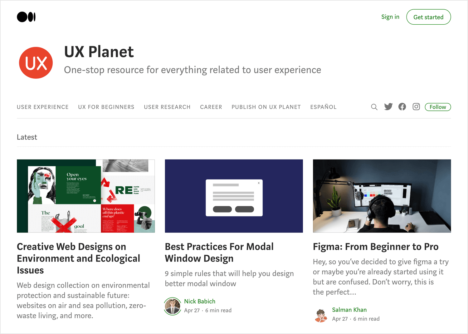 Best UX design blogs - UX Planet