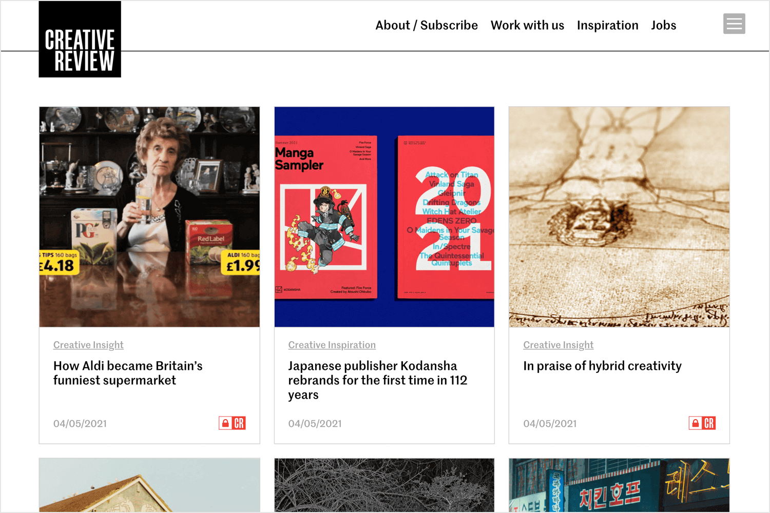 creative review for web design reading
