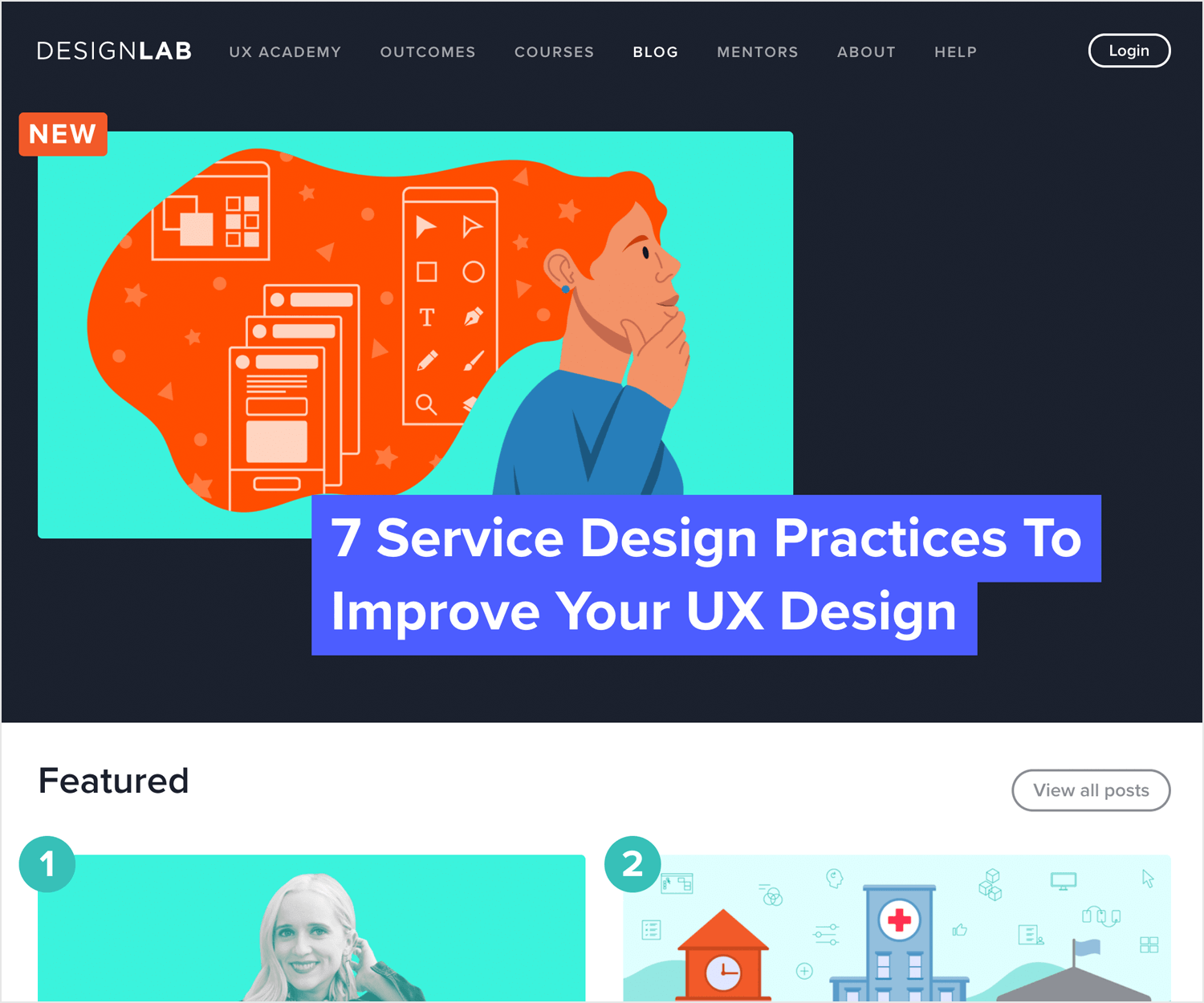 design lab as a ux blog to read interviews with designers