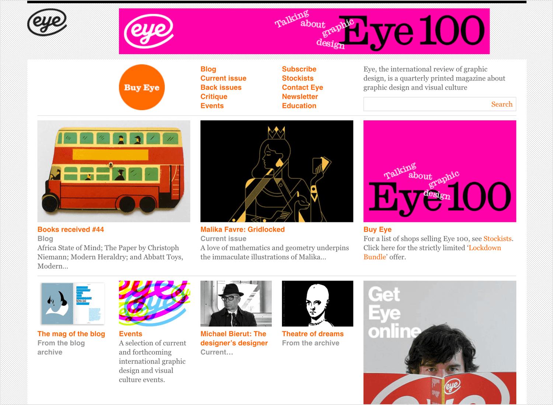 Eye magazine as web design blog