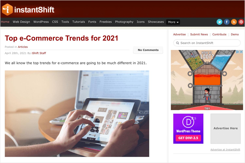 instantshift as a ux blog for beginner designers