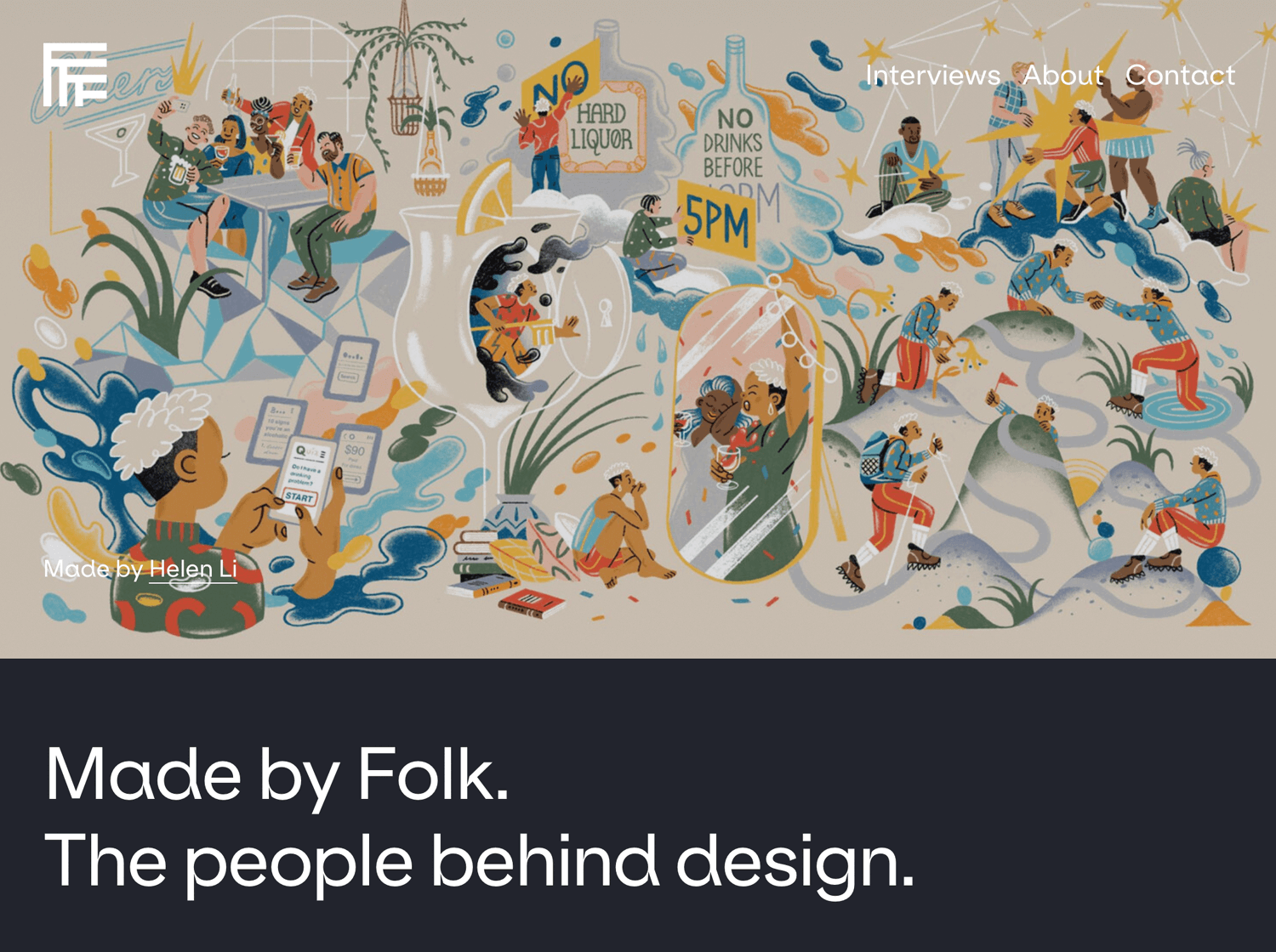 made by folk as web design blog for interviews