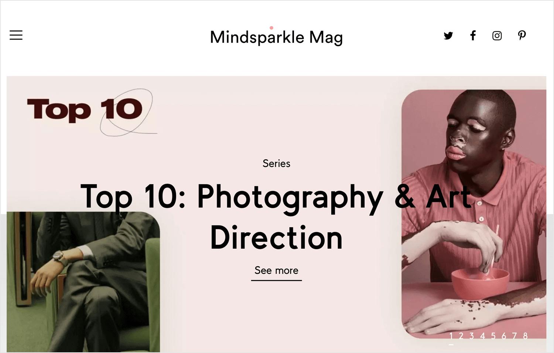 mindsparkle as web design magazine for reading