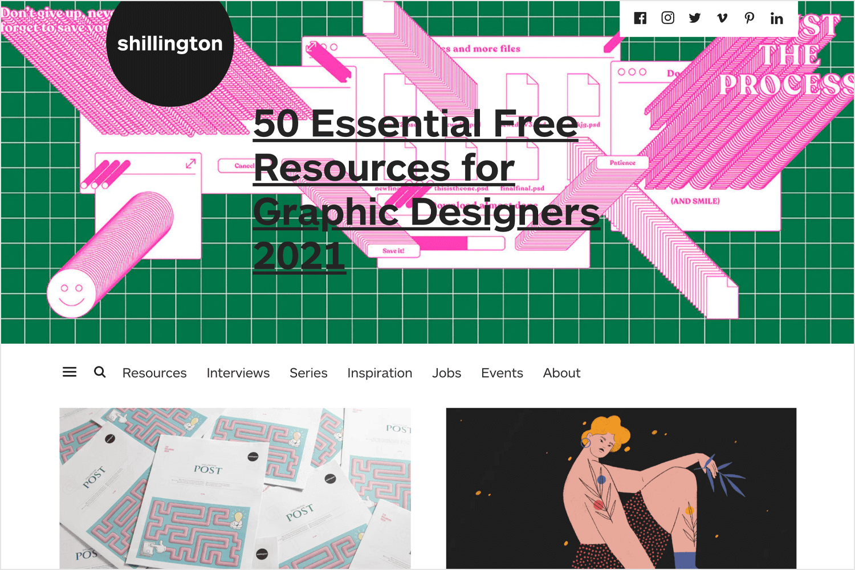 shillington web design blog for reading and learning