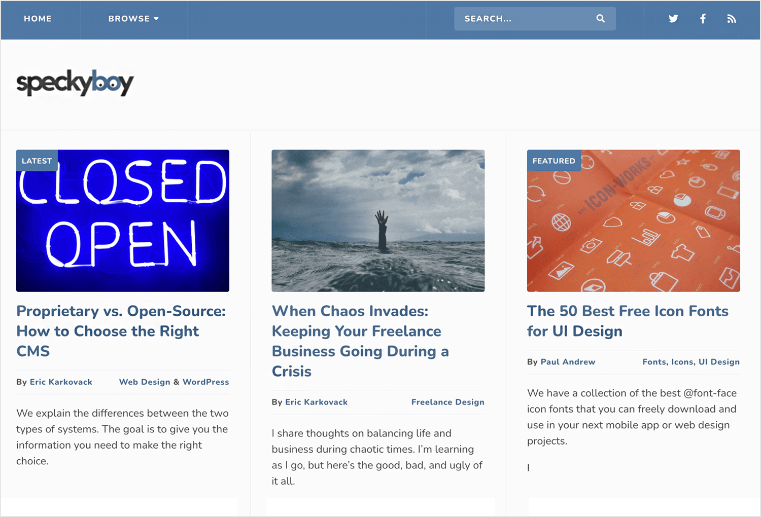 specky boy as great ux blog for designers