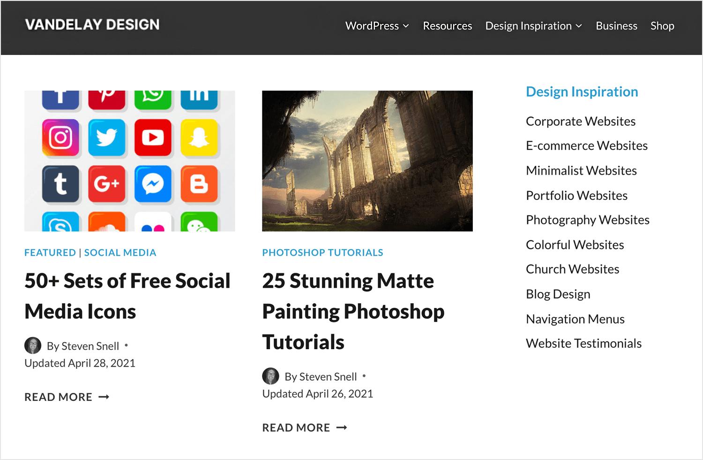 venderley design as ux blog for design community