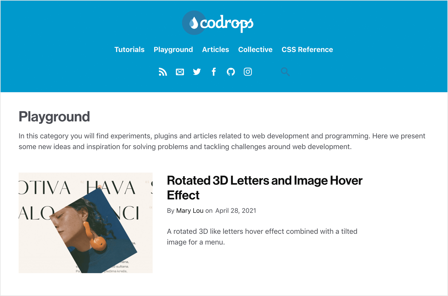 best web design blogs - Codrops