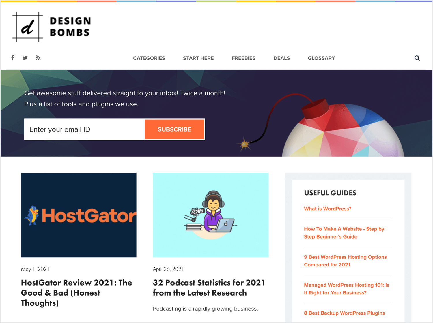 best web design blogs - Design Bombs