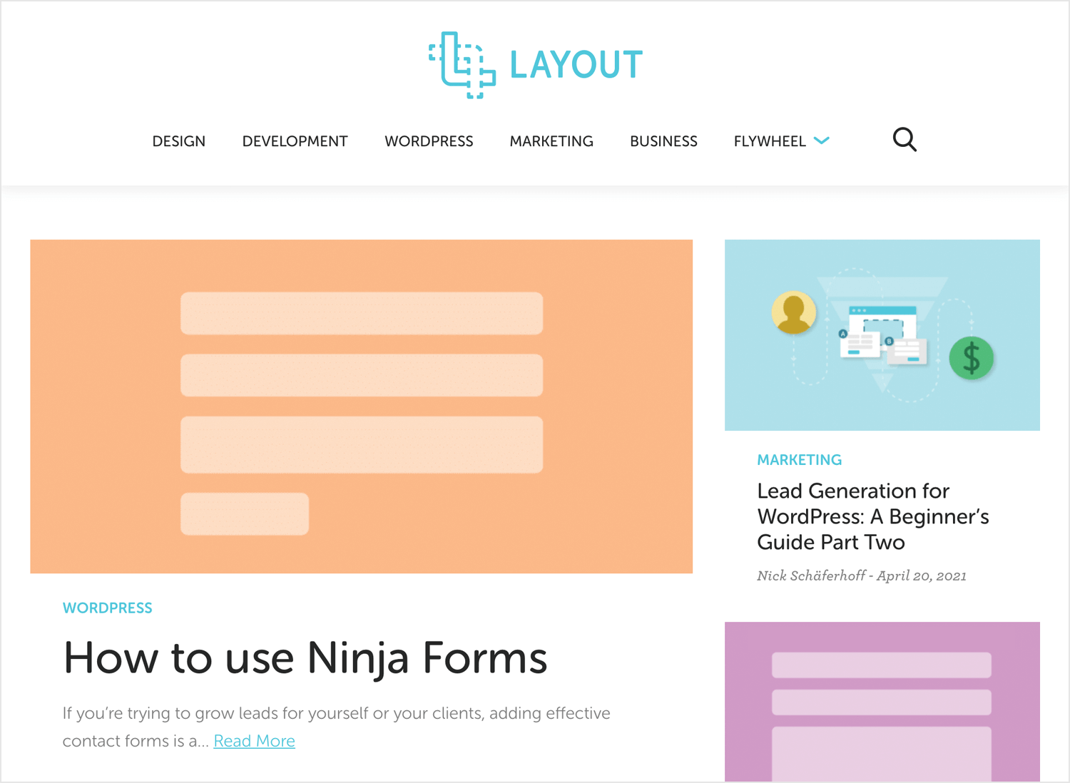 best web design blogs - Layout