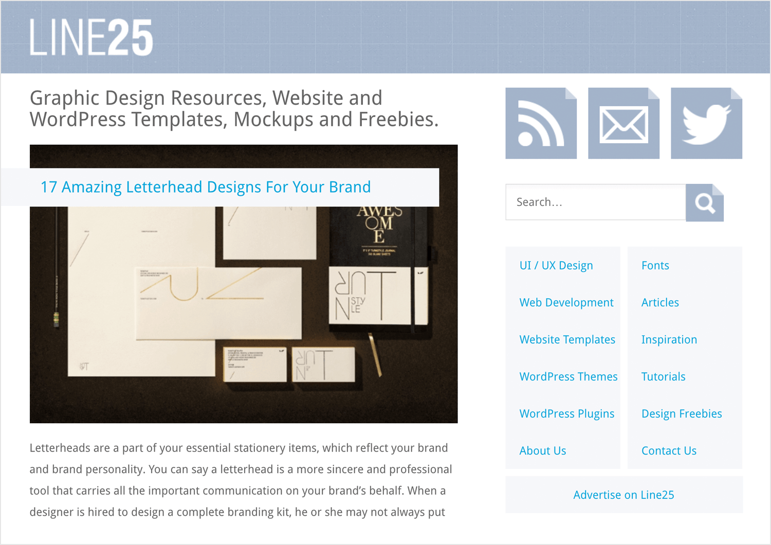best web design blogs - Line25
