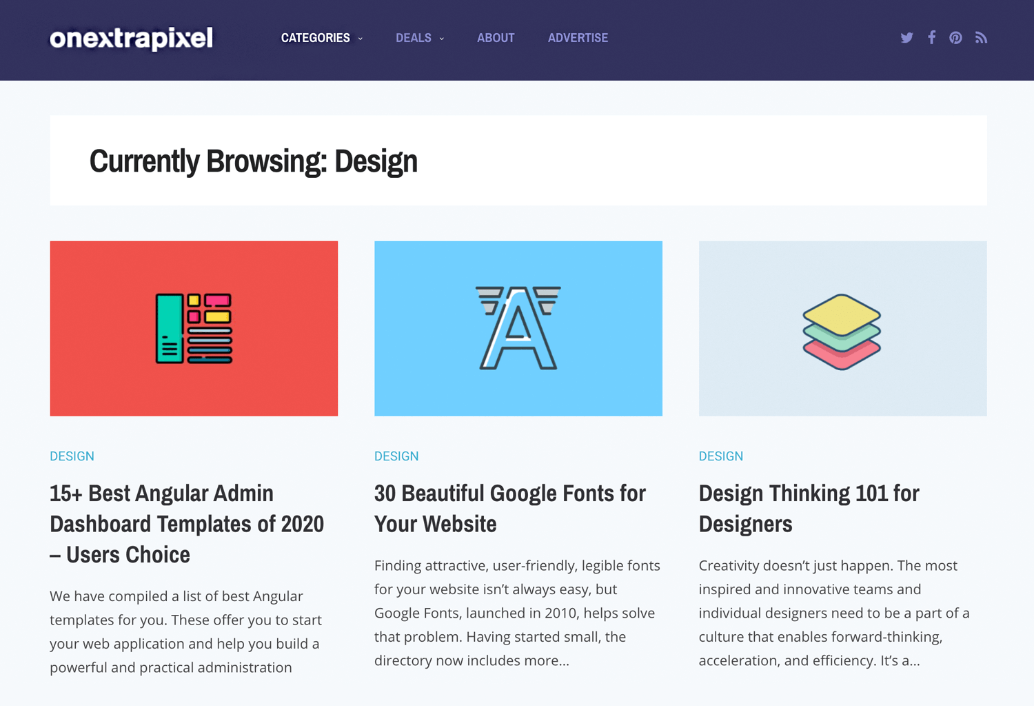 best web design blogs - OnextraPixel