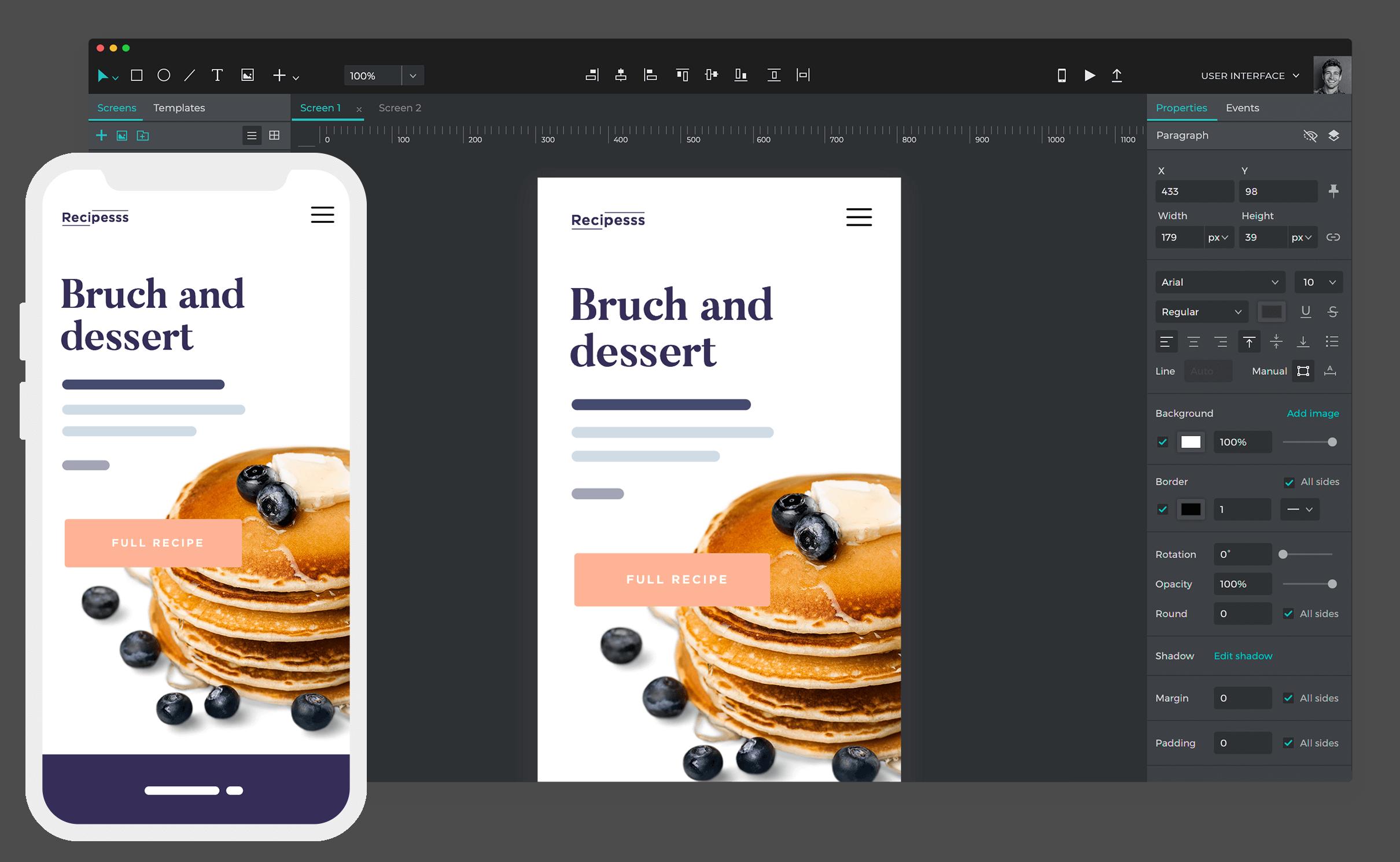mobile app mockup tool
