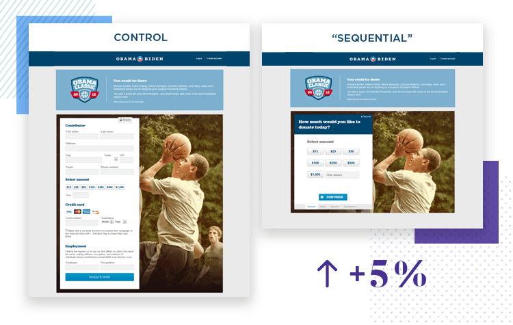 example of a/b testing from obahama email marketing in campaign