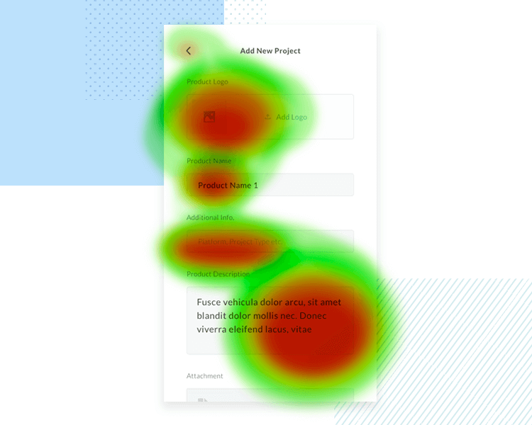 do research before a/b testing - heatmap example