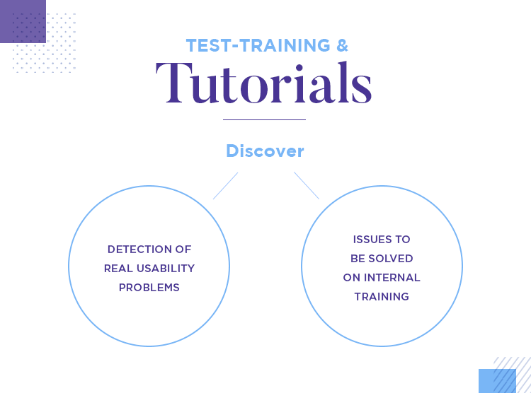 user test enterprise software with training and tutorials