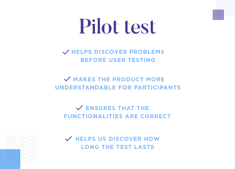 run a pilot user test