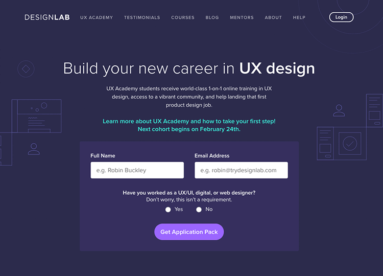 Online UI/UX design course at Designlab