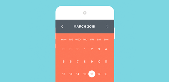 Examples of how to prototype calendar apps