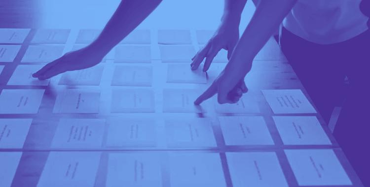 Card sorting - paper vs digital