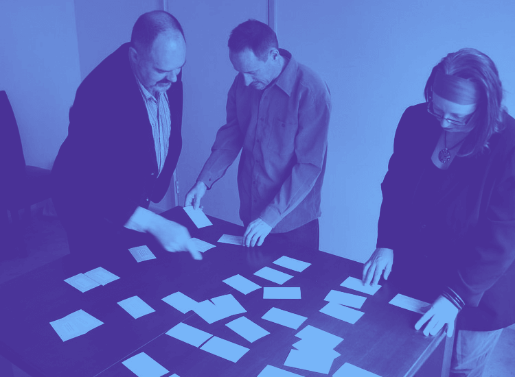 Card sorting - a common method of user testing