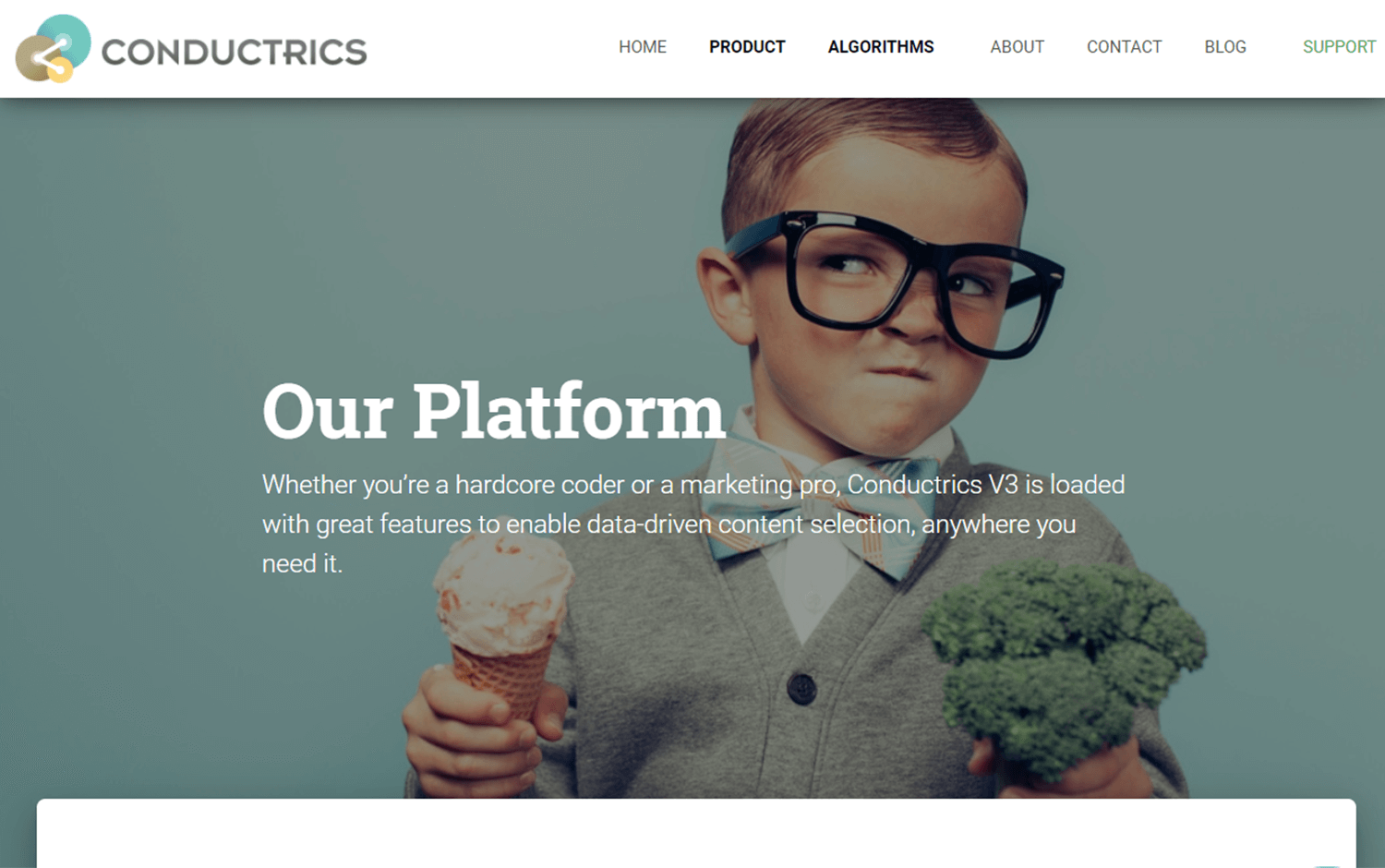 conductrics for building landing pages and ab testing