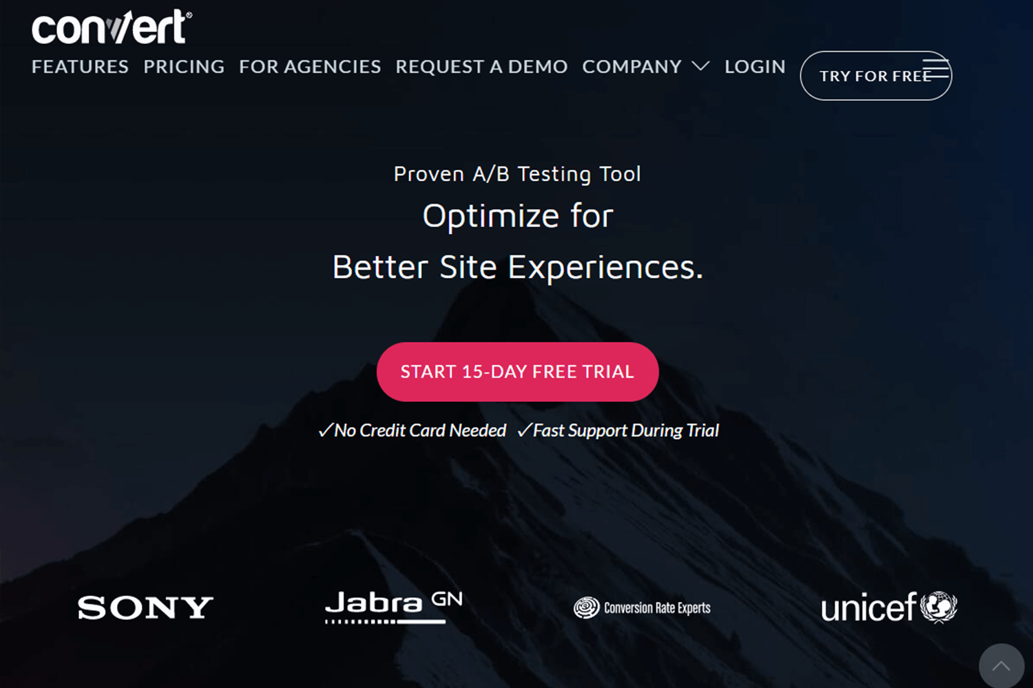 example of ab testing tool - convert experiences