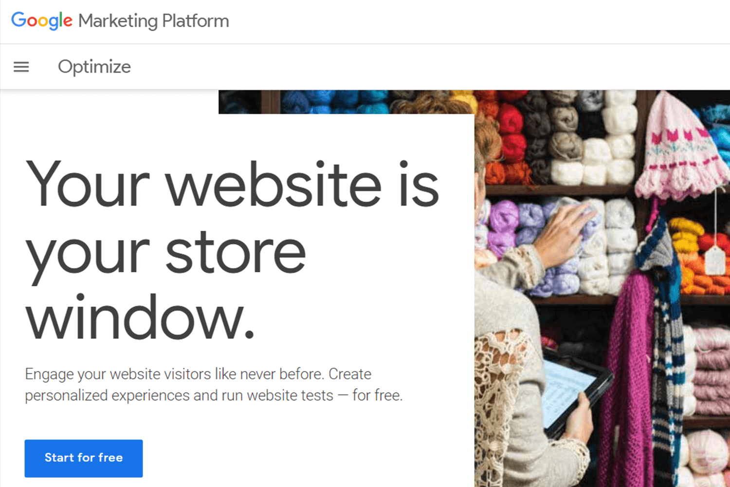 google optimize as an ab testing tool for marketing
