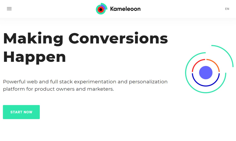 kameleoon example of ab testing tool