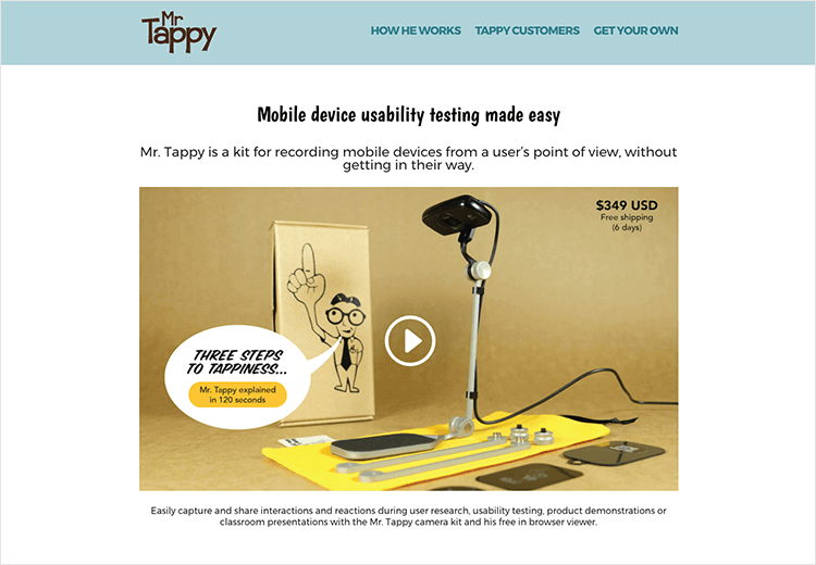 mr tappy as mobile usability testing tool