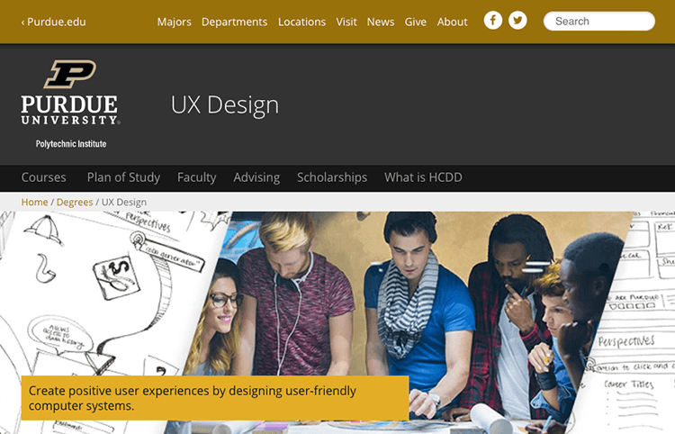 UX design course from Purdue