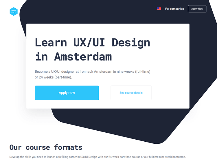 iron hack in classroom ux course in amsterdam