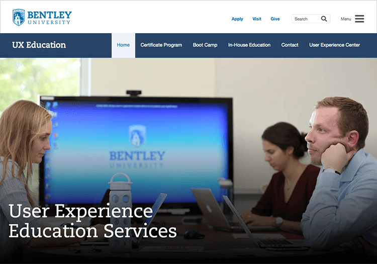ux course in bentley university