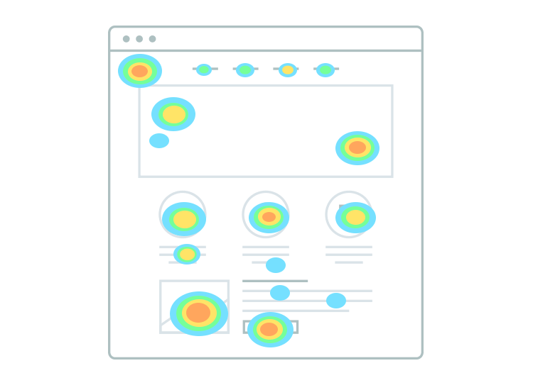 Website heatmaps - clickmaps show where users click the most