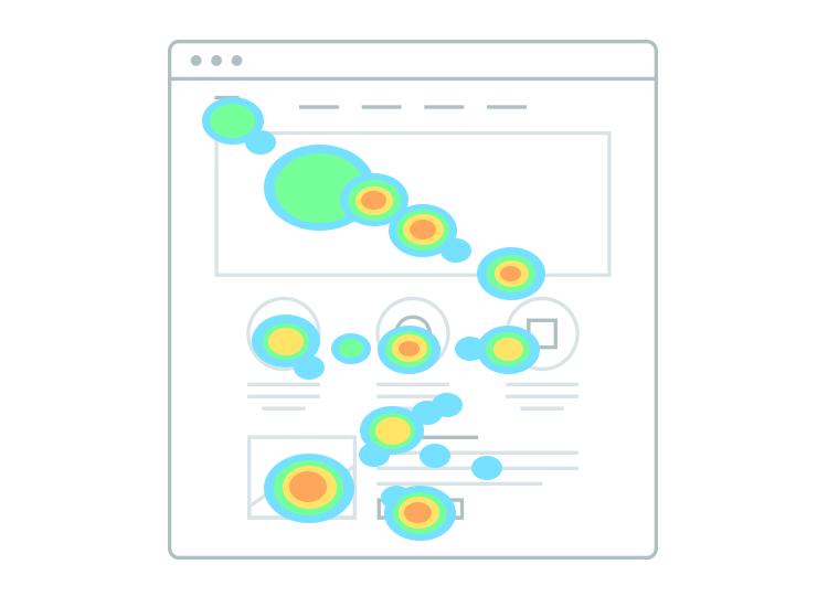 Website heatmaps - mouseflow heatmaps show points of interest