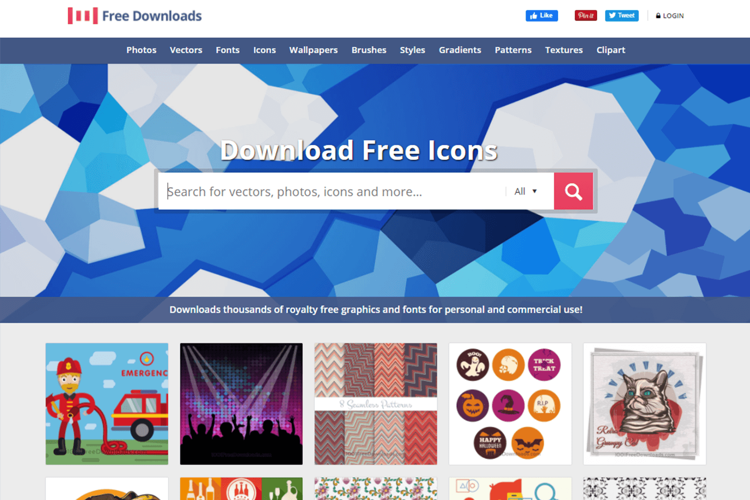 1001 free vectors as place for free images