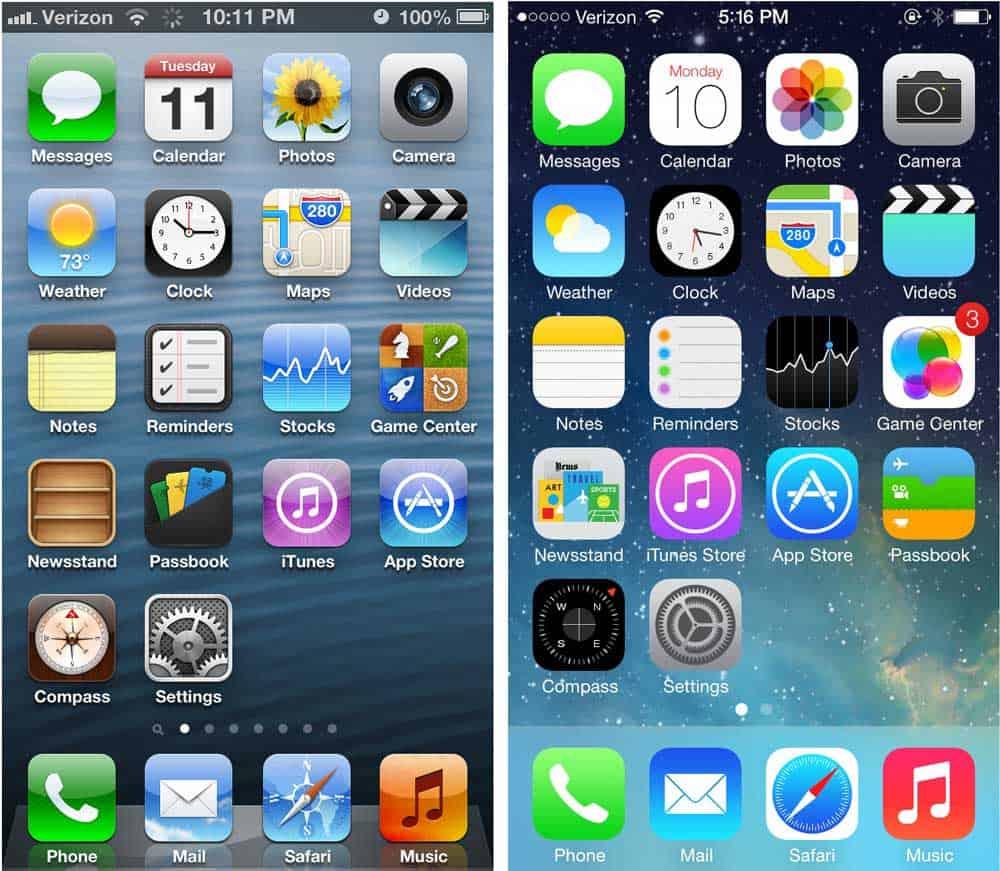evolution of skeuomorphism in apple UI