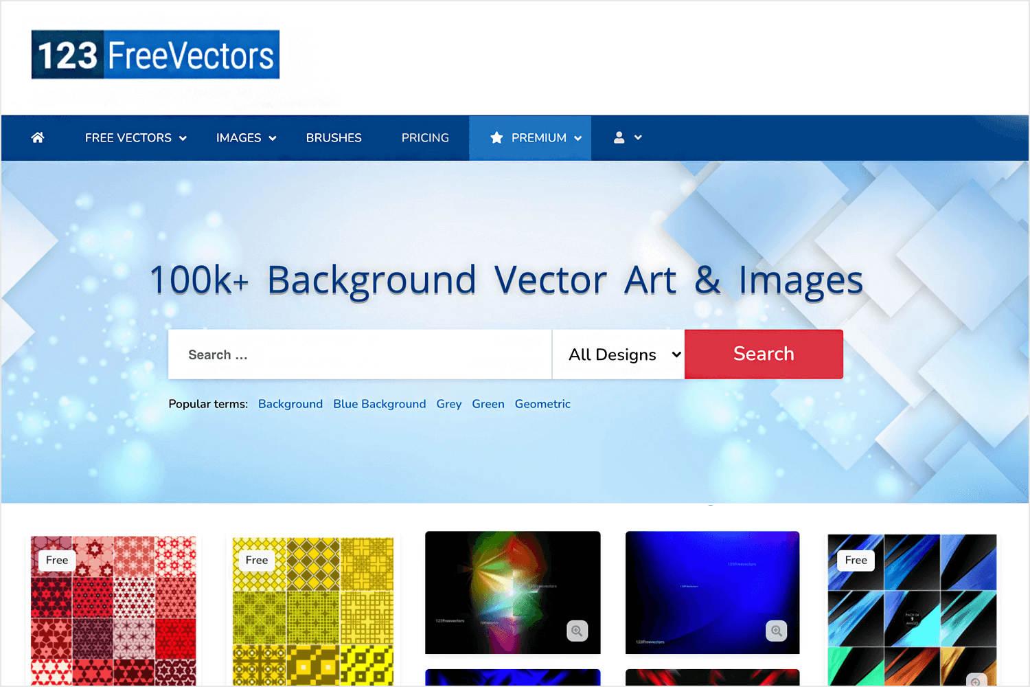 Free vector images - 123FreeVectors homepage