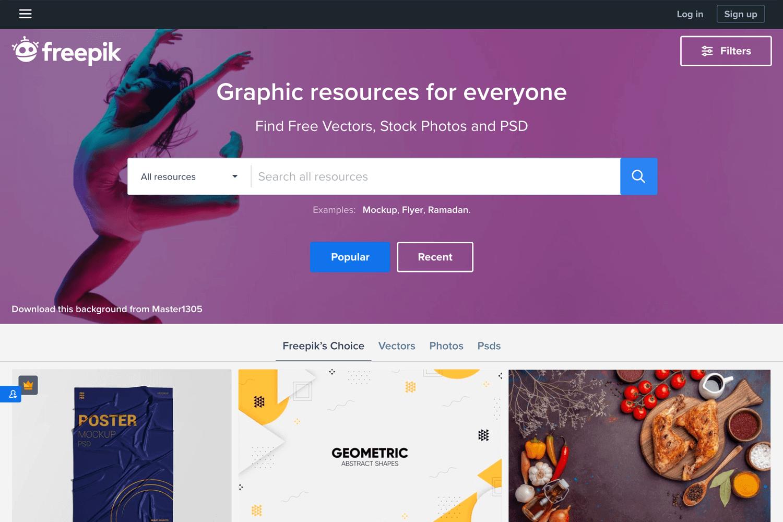 Free vector images - Freepik homepage