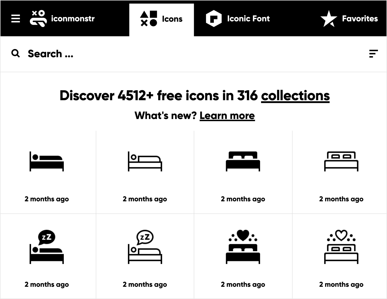 Free vector images - Iconmonstr homepage