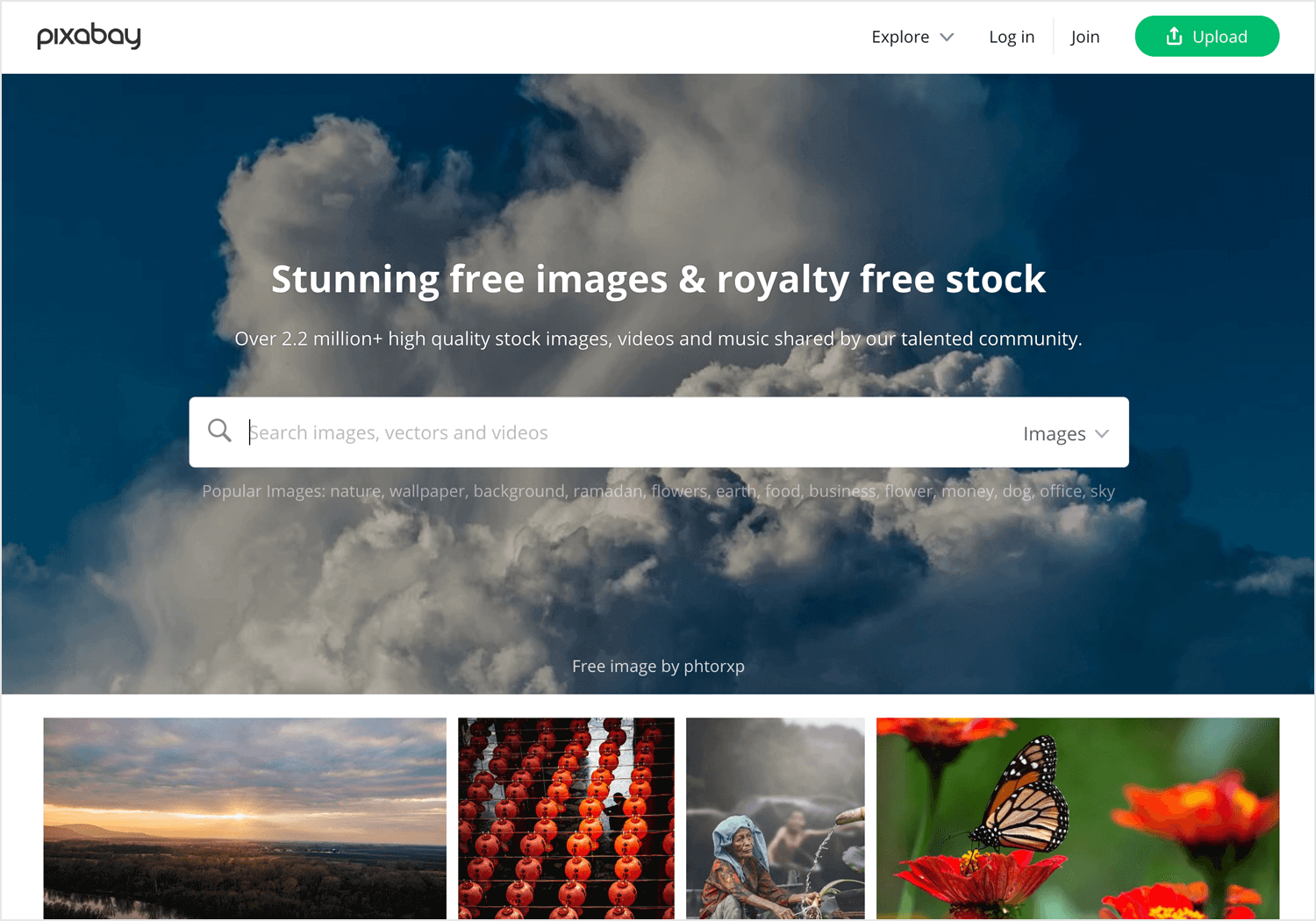 Free vector images - Pixabay homepage