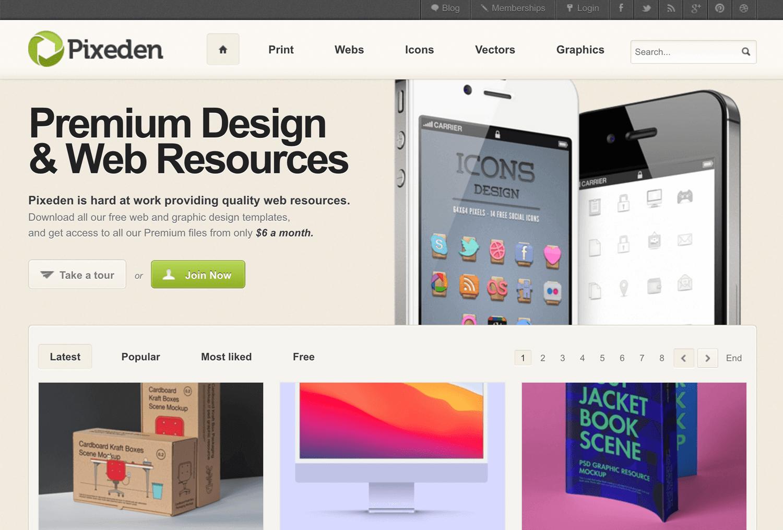 Pixeden vector page