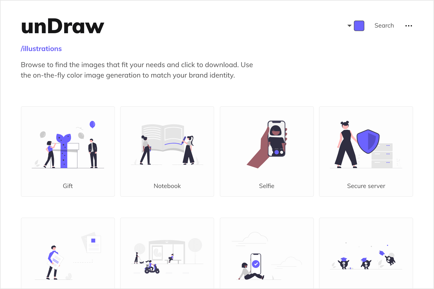 Free vector images - unDraw homepage