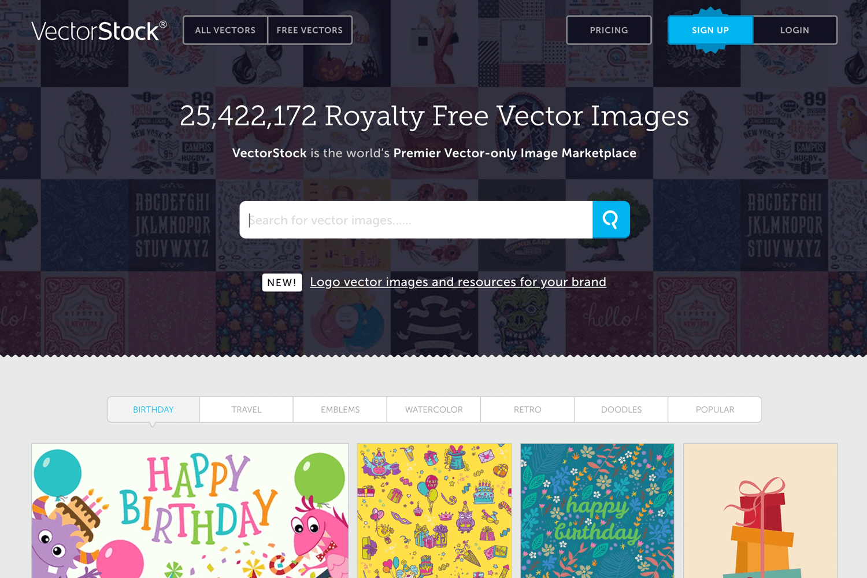 Free vector images - VectorStock homepage