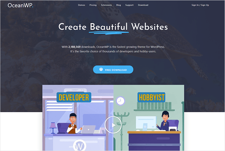 example of graphic website background