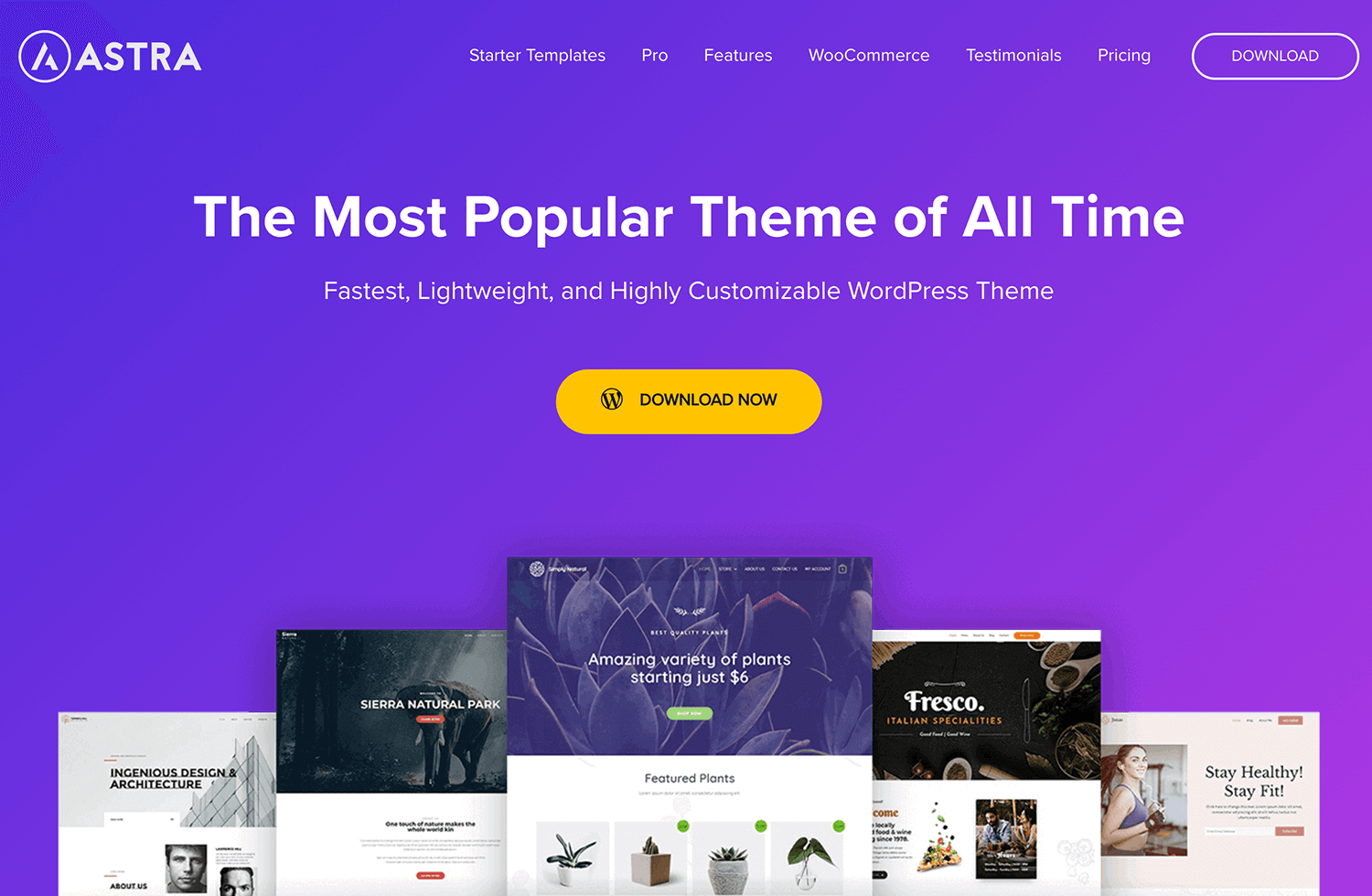 example of header oriented background design