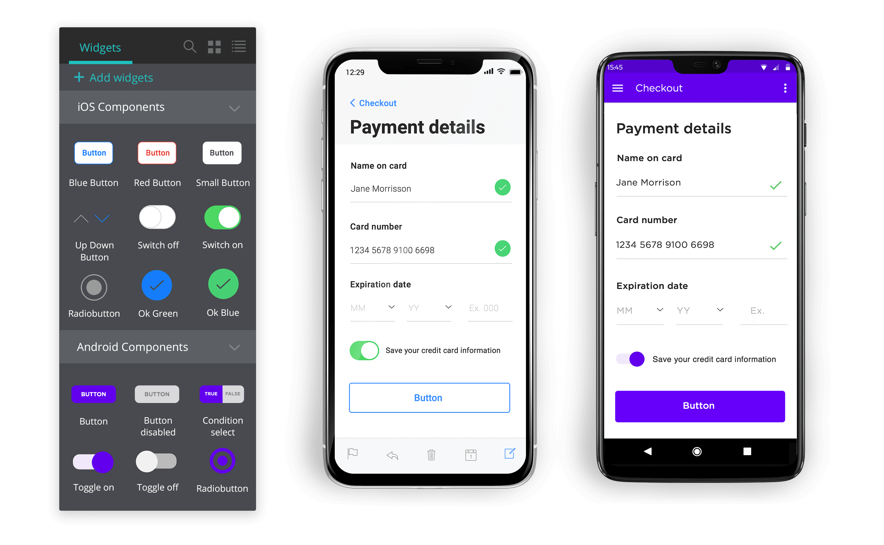 mobile app wireframing tool with ui kit