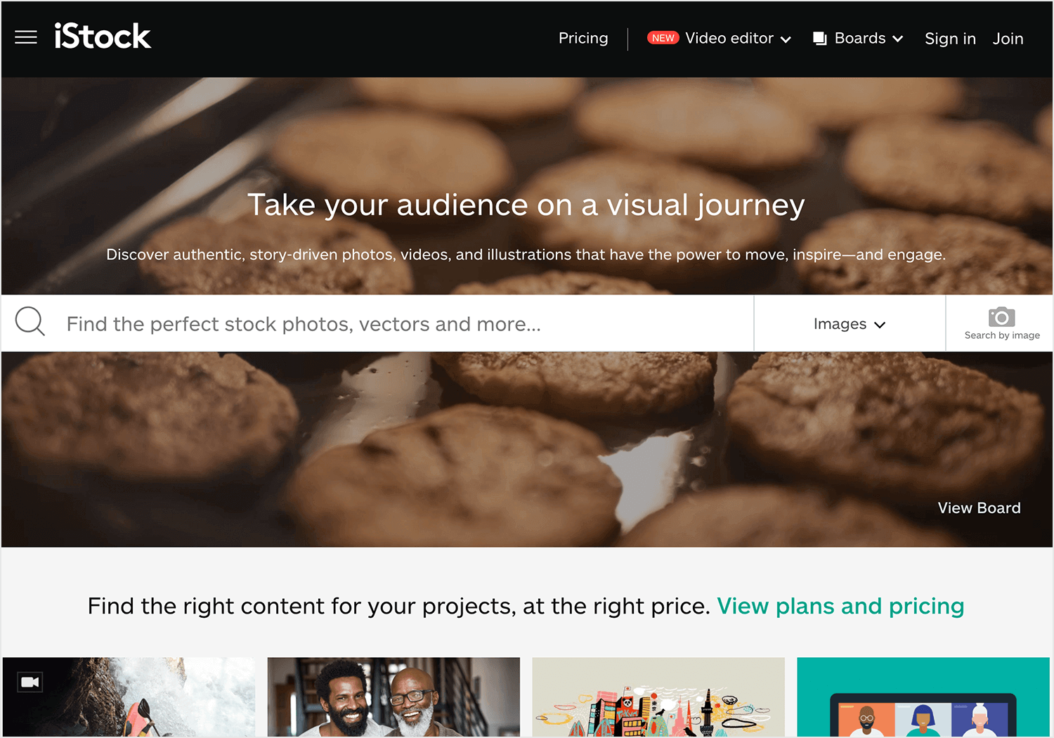 paid platform istock for website backgrounds